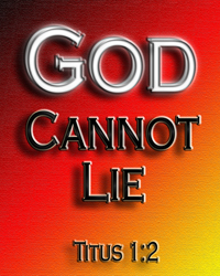 God Cannot Lie